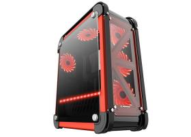 Rampage Castel Tempered Glass Black/Red